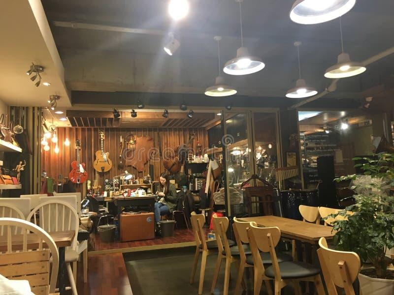 Магазин ремесла руки кафа внутренний стоковые фотографии rf
