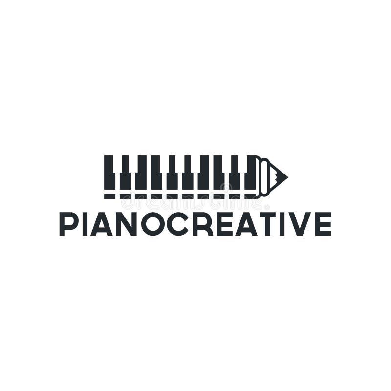 Магазин рояля вектора Значок музыки для аудио воодушевленности дизайна логотипа магазина иллюстрация штока