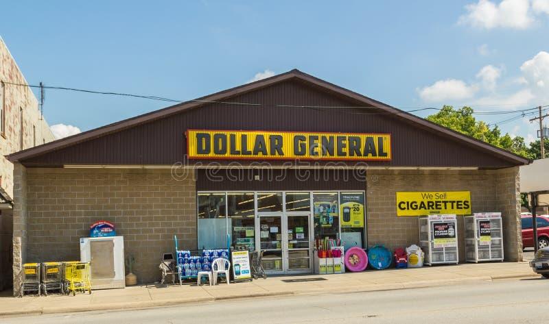 Магазин со смешанным ассортиментом доллара стоковое изображение rf