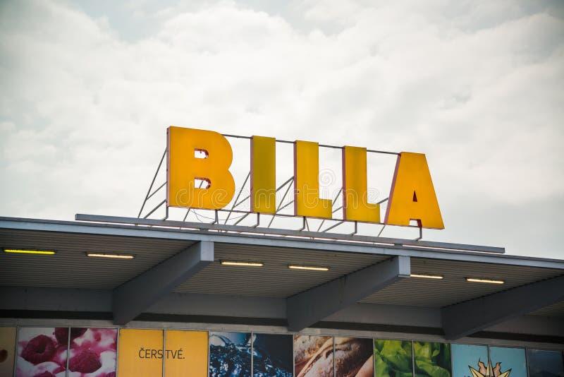 Магазин супермаркета Billa стоковое фото rf