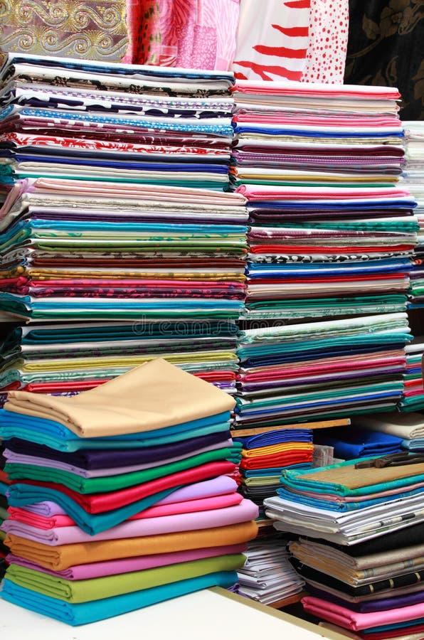 Магазин ткани стоковое фото rf
