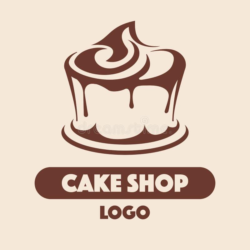Магазин торта логотипа бесплатная иллюстрация