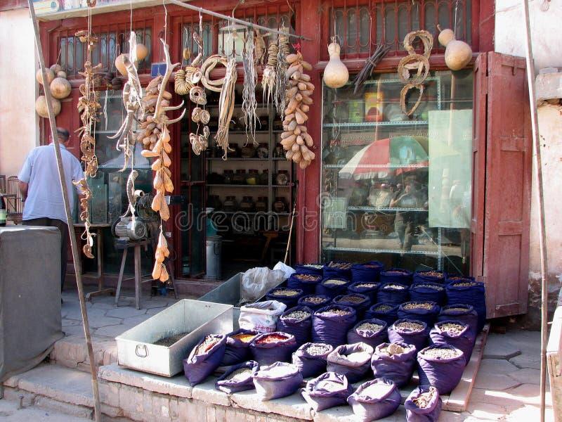 Магазин традиционного китайския в Кашгаре Китае стоковая фотография rf