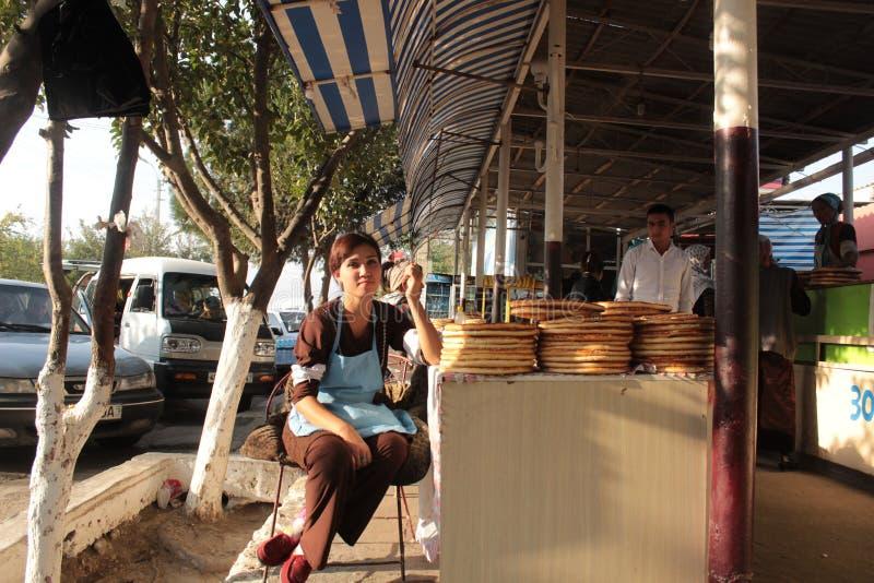 Магазин хлеба в Fergana Valley стоковые фотографии rf