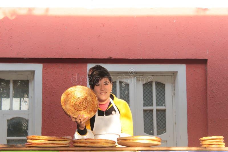 Магазин хлеба в Fergana Valley стоковая фотография rf