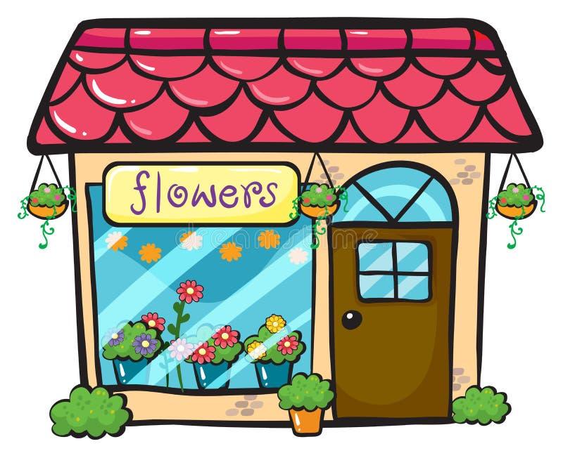 Магазин цветка иллюстрация вектора
