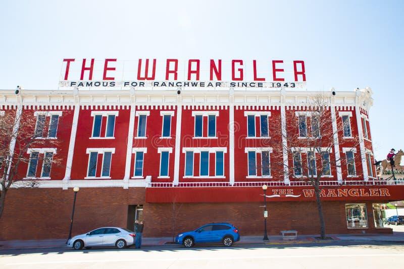 Магазин Шайенн Вайоминг Wrangler стоковое изображение rf