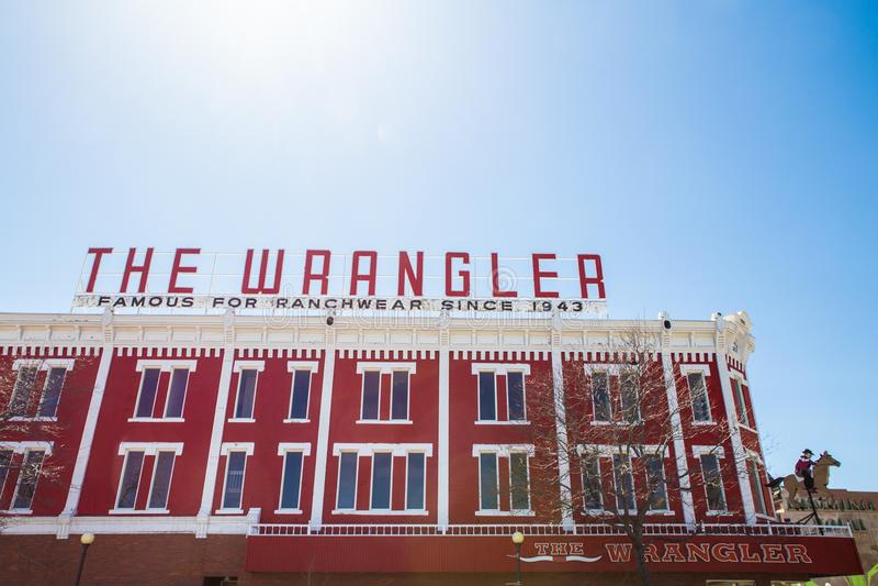 Магазин Шайенн Вайоминг Wrangler стоковая фотография rf