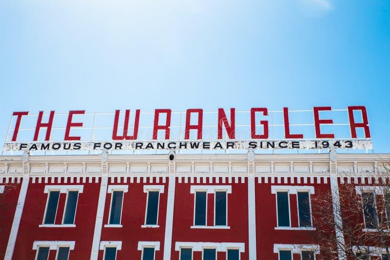 Магазин Шайенн Вайоминг Wrangler стоковые изображения