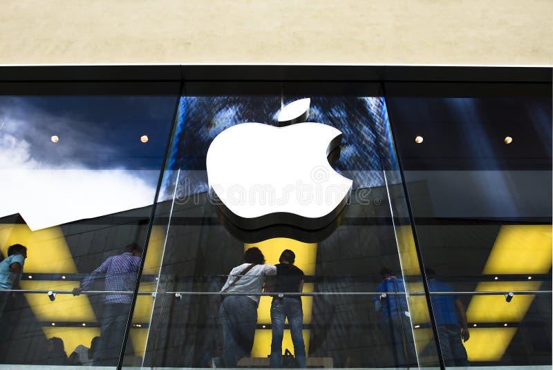 магазин яблока стоковые изображения rf