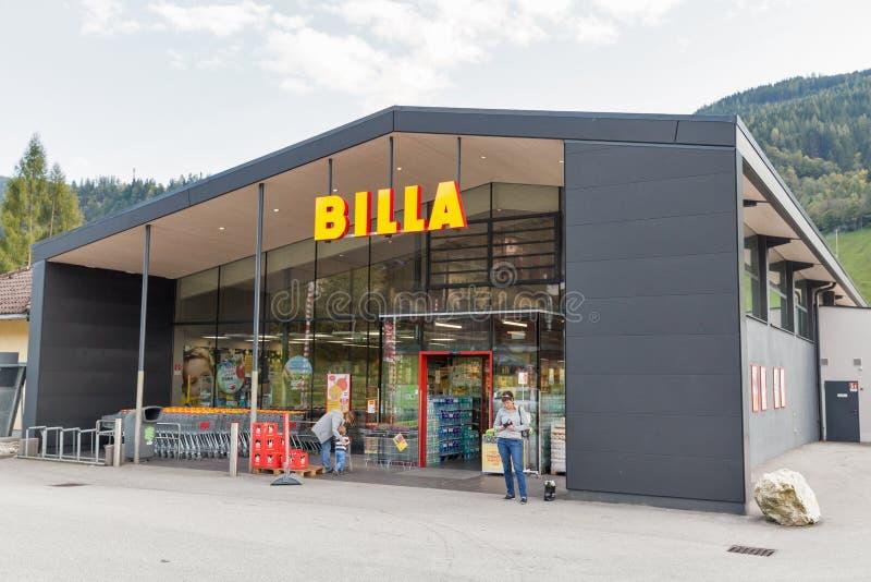 Магазин Billa в Haus, Штирии, Австрии стоковое изображение rf