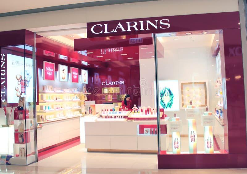 Магазин Clarins в Гонконге стоковая фотография rf