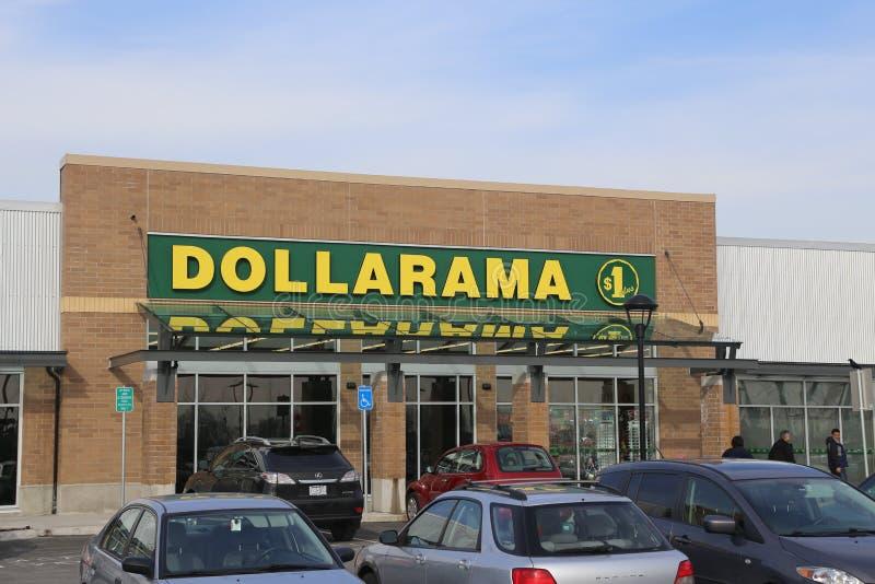 Магазин Dollarama стоковые фотографии rf