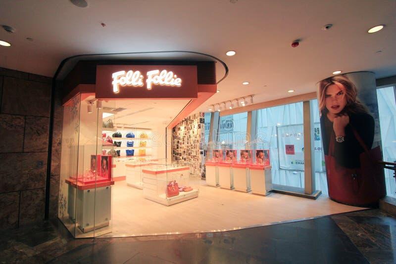 Магазин follie Folli в Гонконге стоковые фотографии rf