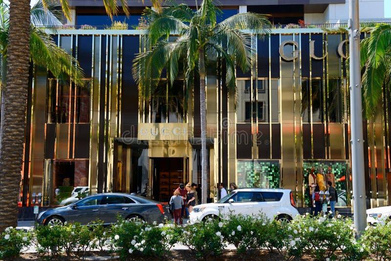 Магазин Gucci в улице привода родео стоковая фотография rf