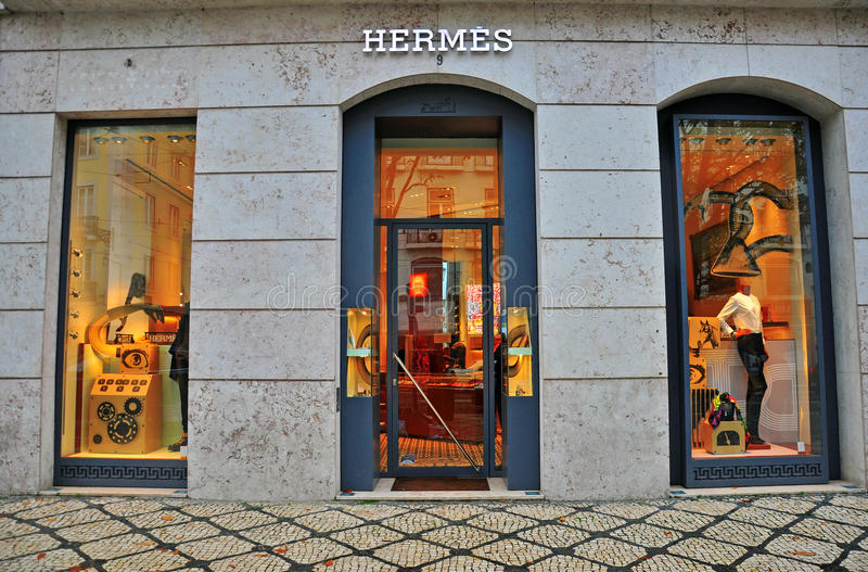 Магазин Hermes стоковое изображение