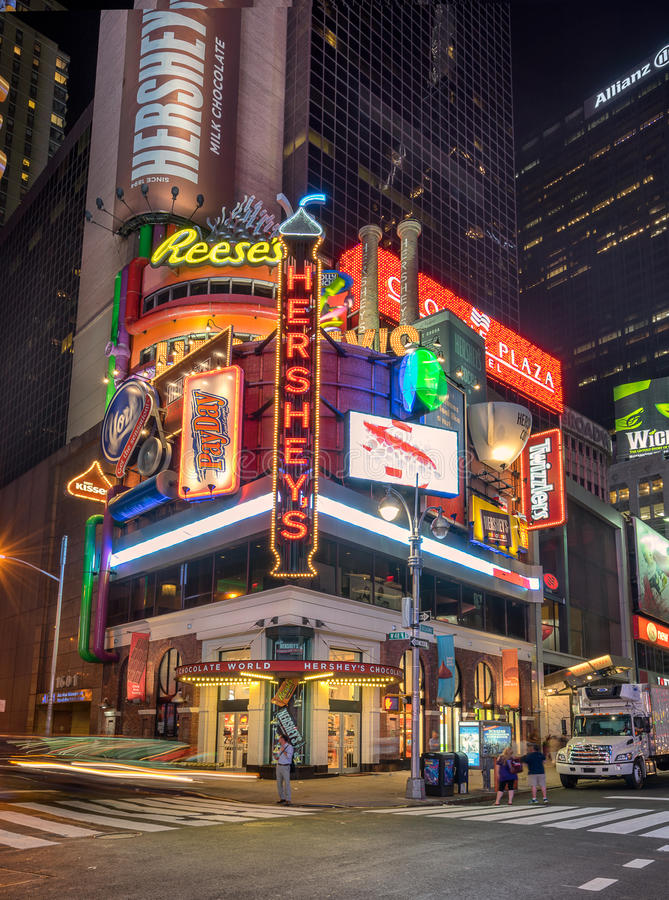 Магазин Hershey в Таймс площадь стоковое фото