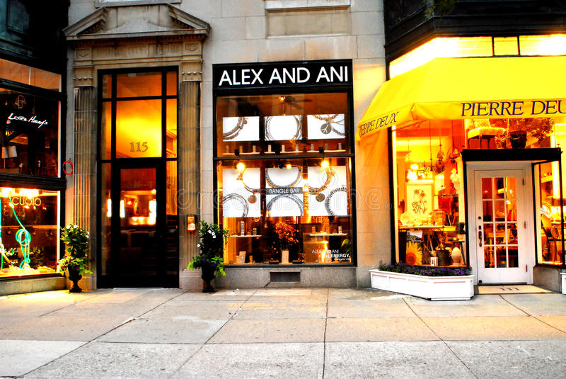 магазин ma ювелирных изделий boston ani alex стоковые изображения rf
