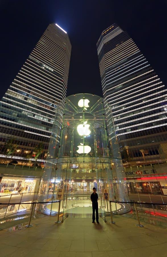 магазин shanghai яблока стоковые изображения rf