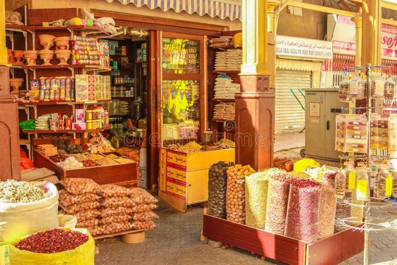 Магазин Souk Дубай специи стоковое изображение