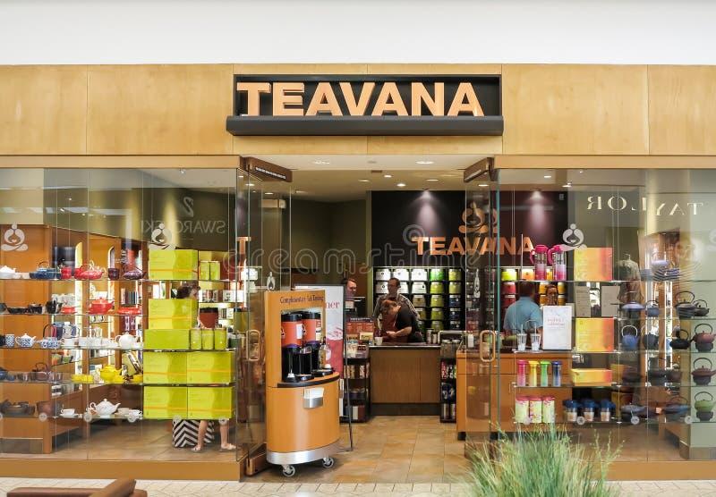 Магазин Teavana стоковое изображение