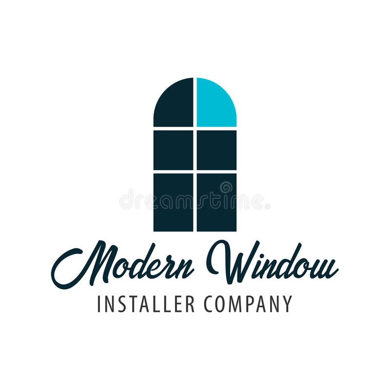 Магазин Windows логотипа Компания установителя также вектор иллюстрации притяжки corel иллюстрация штока