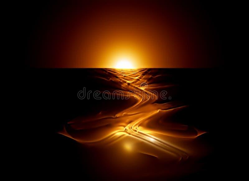 магма подачи горячая иллюстрация вектора