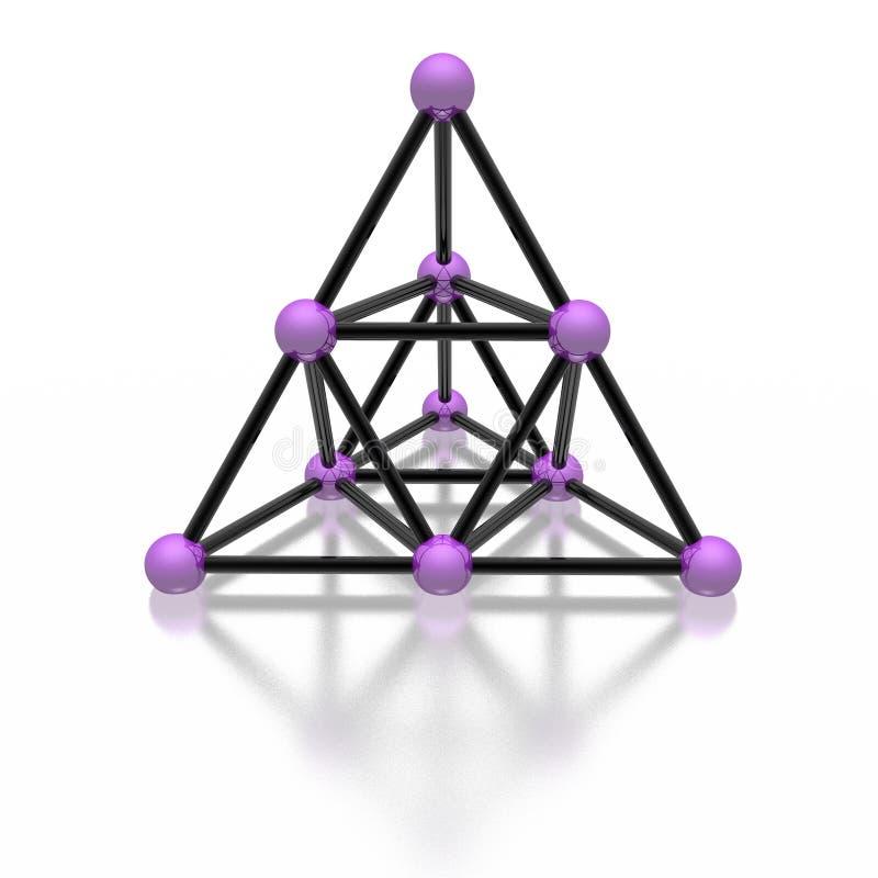 магнитная пирамидка иллюстрация штока