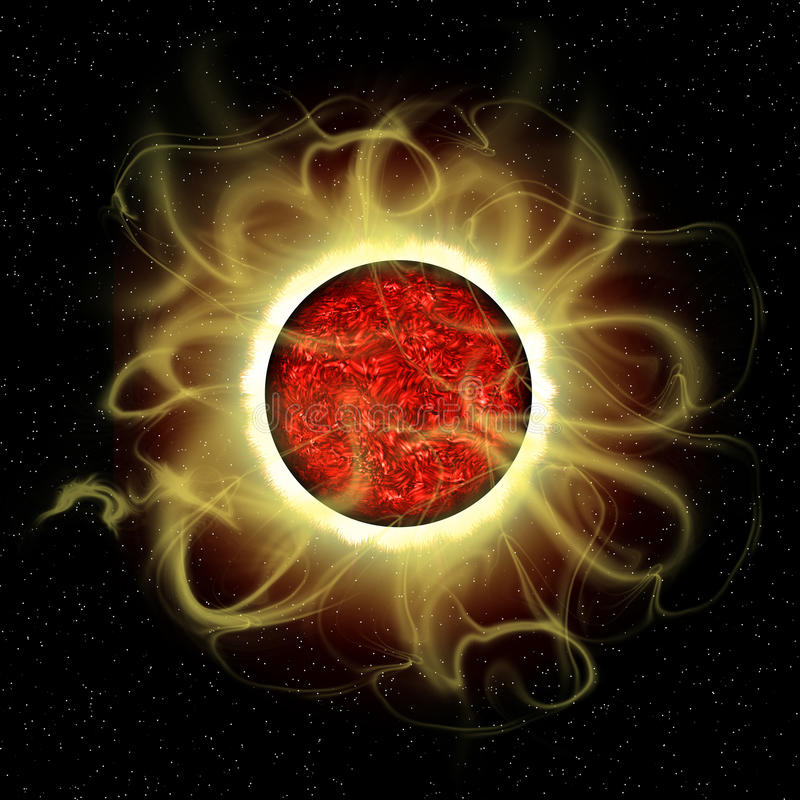 Магнитное поле ` s Солнця иллюстрация штока