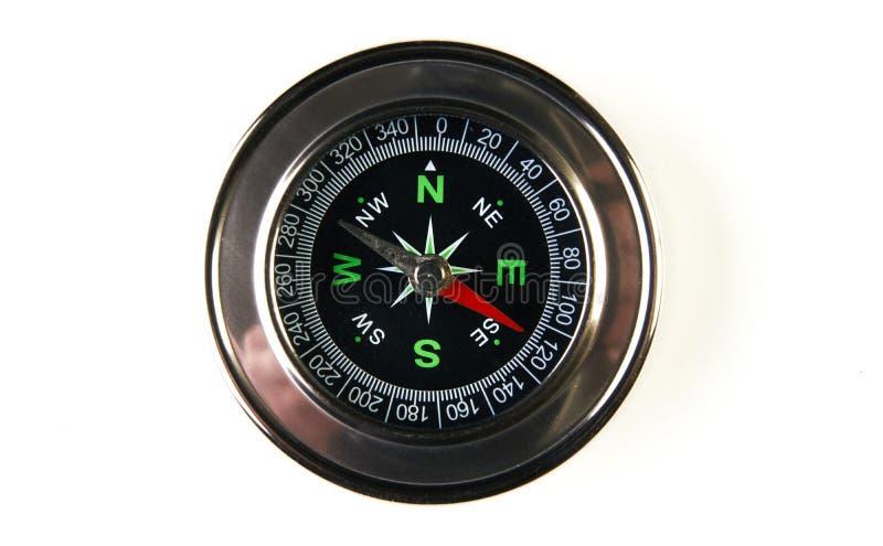Магнитный компас изолированный на белой предпосылке с космосом экземпляра стоковое фото rf