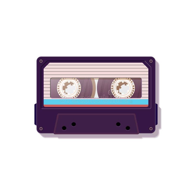 Магнитофонная кассета Винтажная магнитофонная кассета Ностальгия 80 ` s ` s 90 иллюстрация вектора