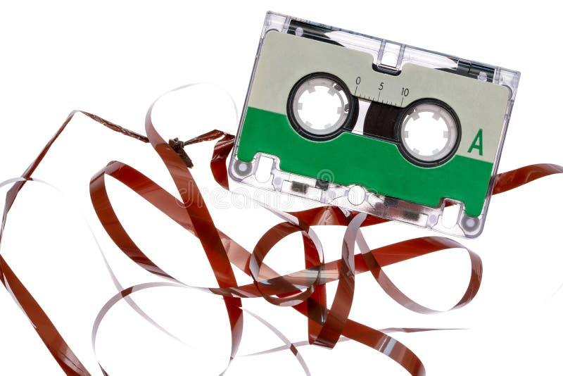 Магнитофонная кассета с вычтенной лентой выхода стоковые изображения
