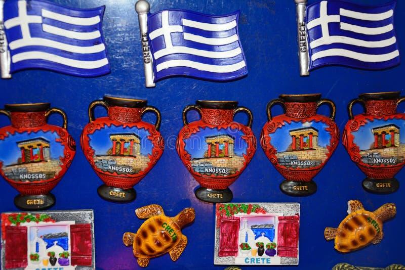 Магниты холодильника для продажи, Крит стоковое изображение