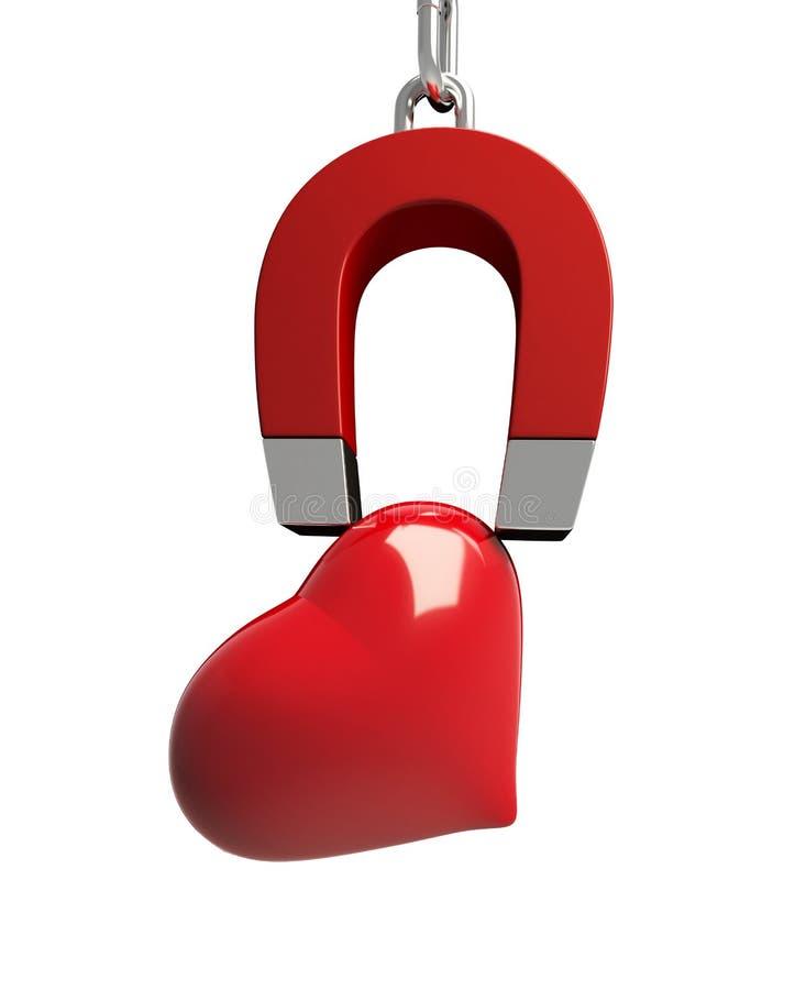 магнит сердца иллюстрация штока