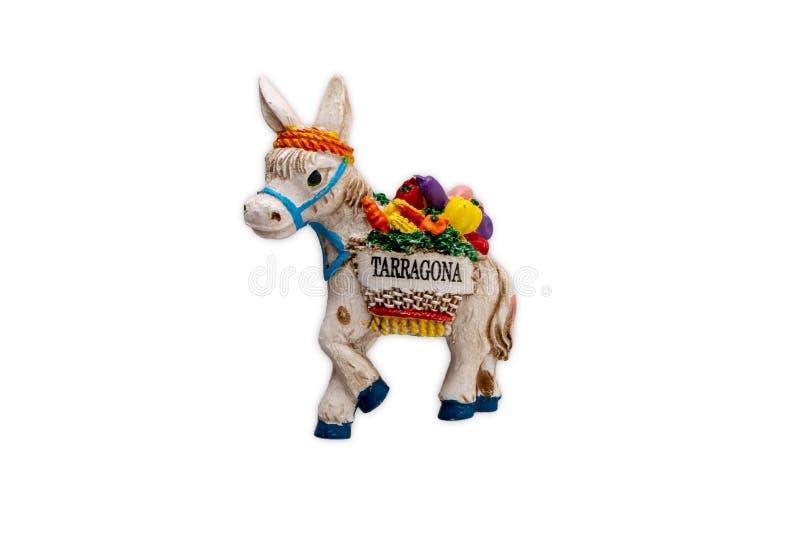 Магнит сувенира от Таррагоны, Испании стоковая фотография