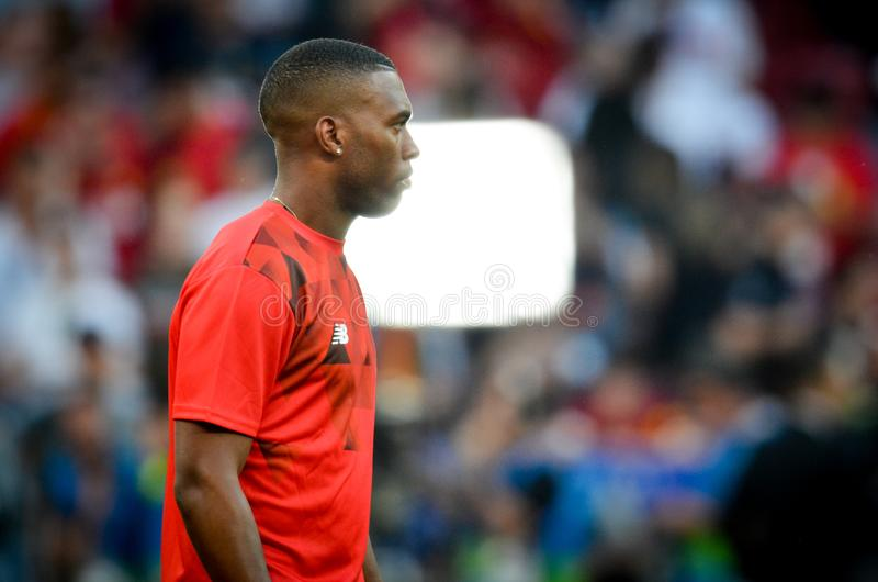Мадрид, Испания - 1-ОЕ МАЯ 2019: Футболист во время финального матча 2019 лиги чемпионов UEFA между FC Ливерпулем против Tottenha стоковые изображения