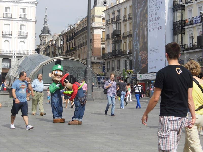 Мадрид Марио и Luigi стоковые изображения