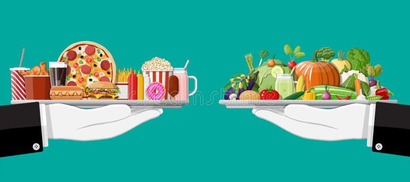 Мазеподобный холестерол против Еда витаминов бесплатная иллюстрация