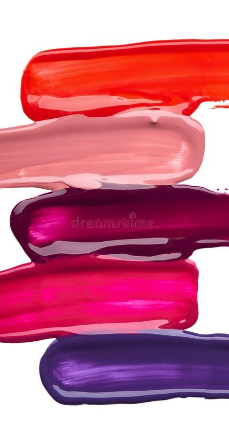 Мазок градиента краски или сливк стоковые изображения