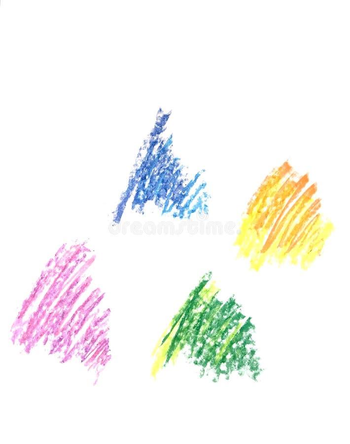 Мазок с crayon стоковая фотография