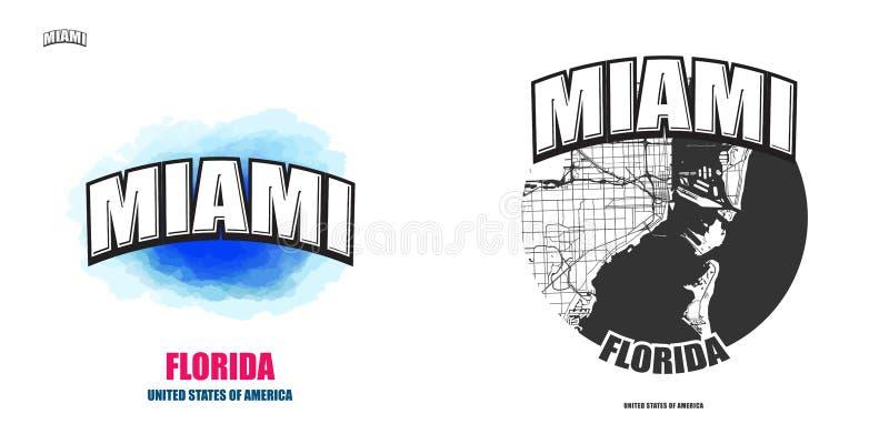Майами, Флорида, 2 художественного произведения логотипа бесплатная иллюстрация