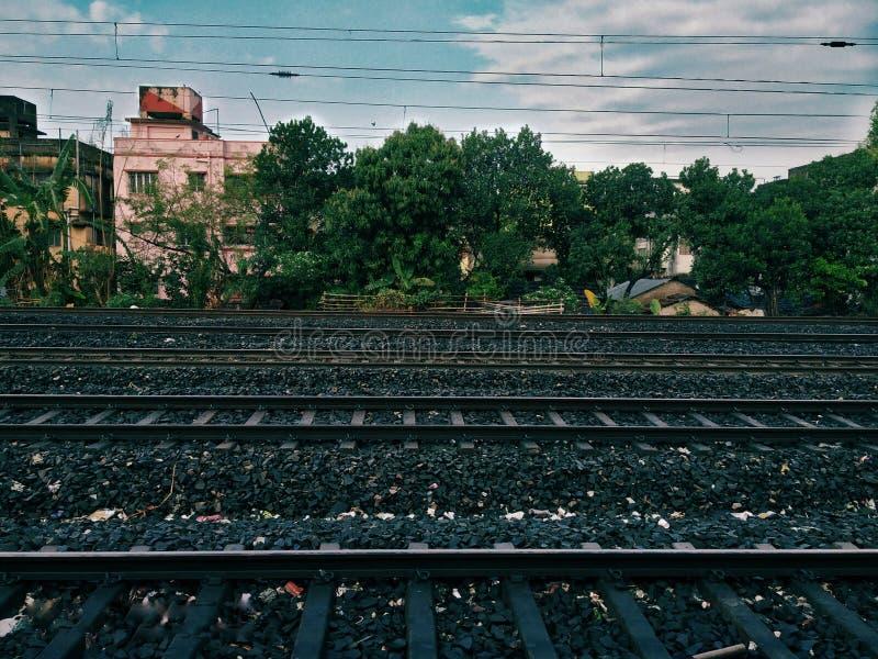 Майна 5 следов поезда в Индии стоковые изображения rf