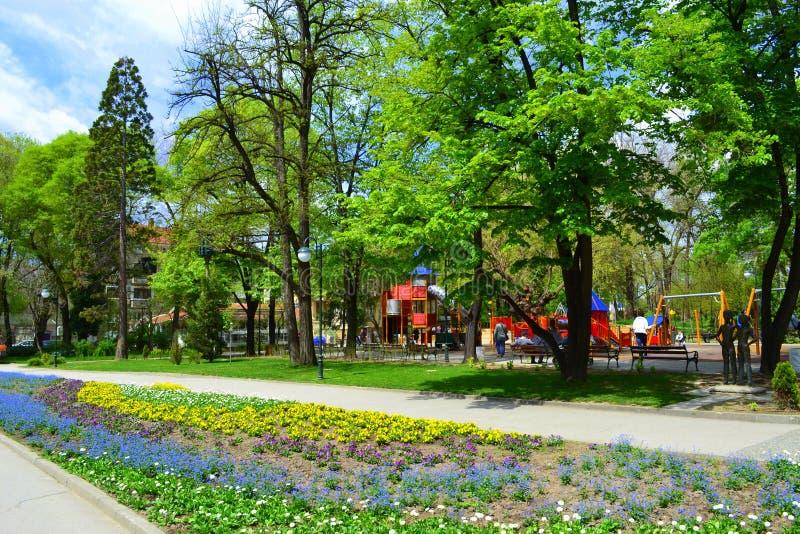 Майны парка весны стоковые изображения rf