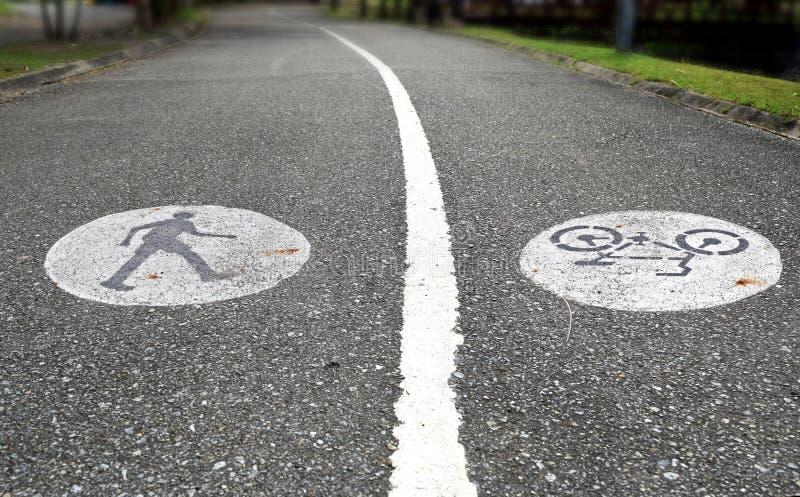 2 майны с путем дорожки и велосипеда стоковое изображение