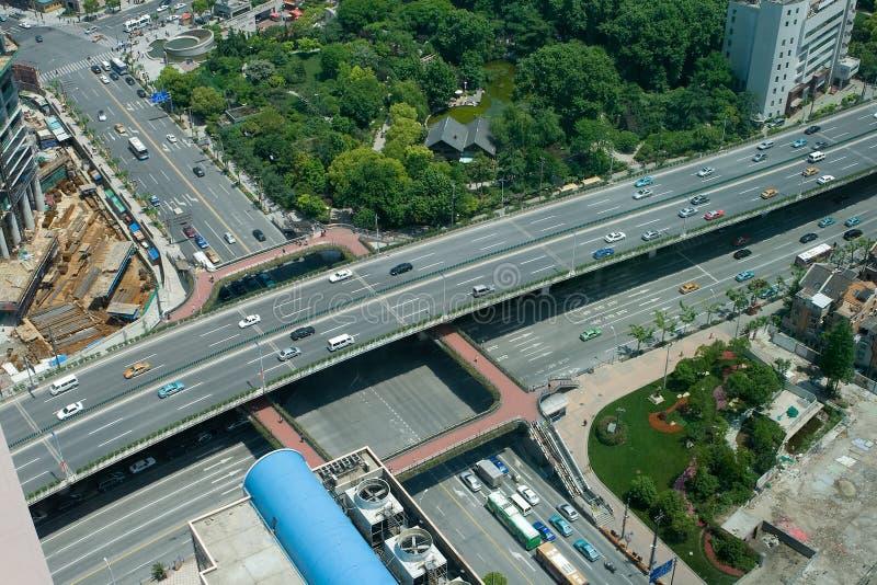майор самомоднейший shanghai пересечения фарфора городской стоковое изображение rf