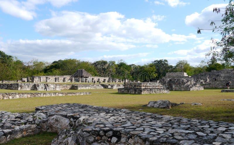 Майяская культура Мексика Pyramide руин mayapan стоковые фотографии rf