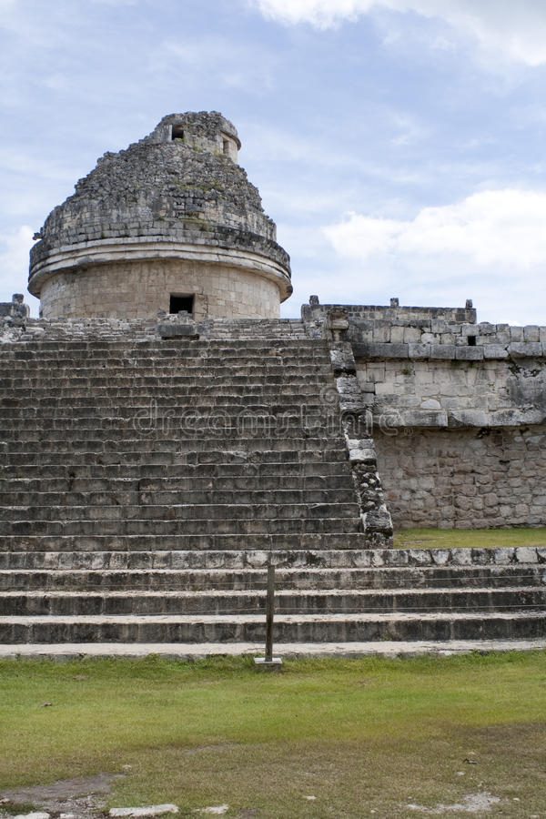 майяская обсерватория стоковая фотография