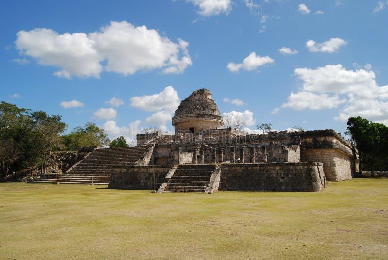 майяская обсерватория стоковое фото
