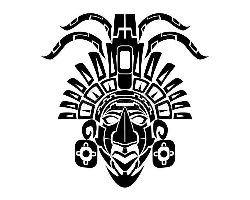 Майяская татуировка Mack племенная иллюстрация вектора