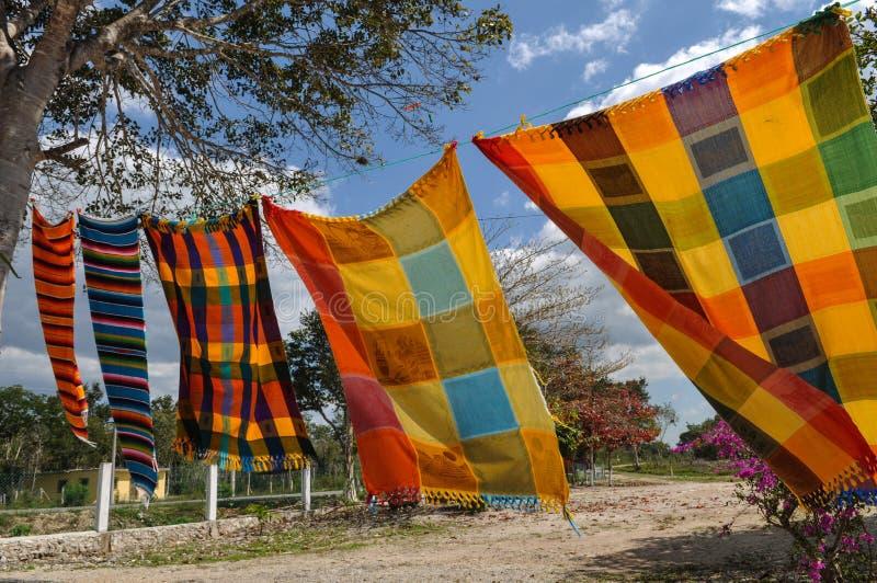 Майяские одеяла для продажи стоковое изображение rf